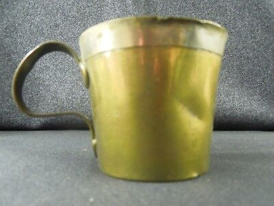 Antique Georgian 18th Century Brass, cup/ tankard