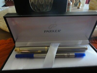 Parker Pen Matte Silver Roller ball,Boxed . Gift never used