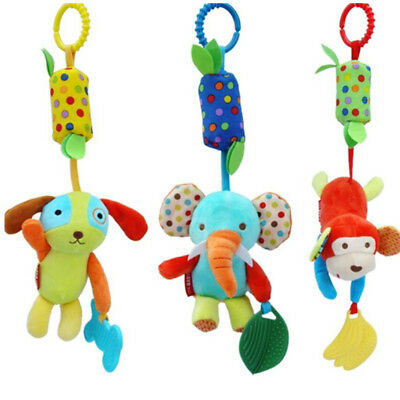 Plush Rattle Baby Soft Toy Pushchair Car Hanging Pushchair Pram Girls Boys NEW