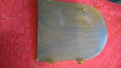 Solid Oak Door with Hinges for Vintage Mantle Clock Measures19.2cms x 15cms