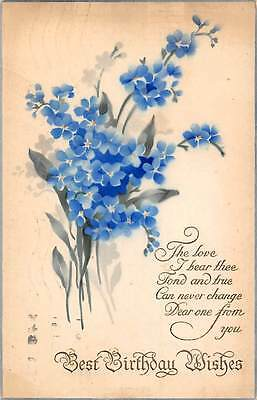 Best Birthday Wishes, forget-me-not, love 1924