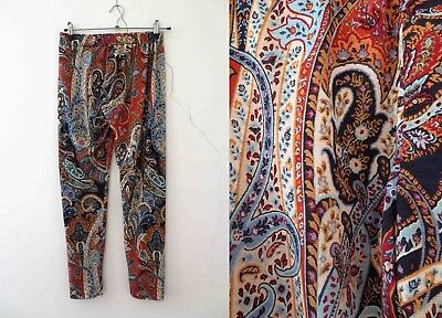 Psychadelic Boho Paisely Leggings Handmade Small Buy 3+ items for FREE Postage