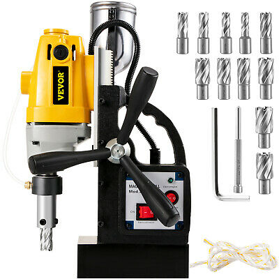 """MD-40 Electric Magnetic Drill Press 1.5"""" Boring w/11 pcs HSS Annular Cutter Bits"""