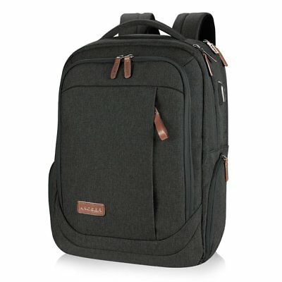 17.3 Inch Computer Laptop Backpack Bag Water Repellent USB Charging Port NEW