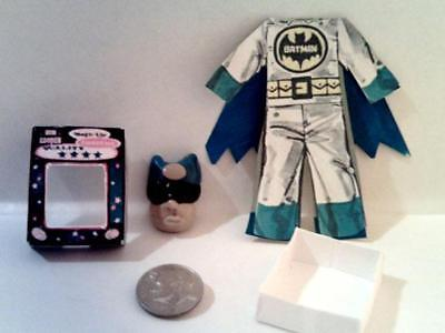Dollhouse Miniature Vintage Style Halloween Batman Costume Set