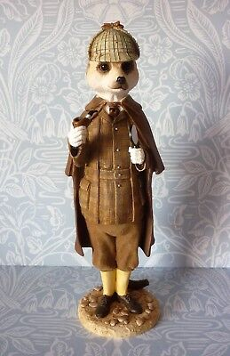 Magnificent Meerkats Sherlock no box Exc Figurine CA04160