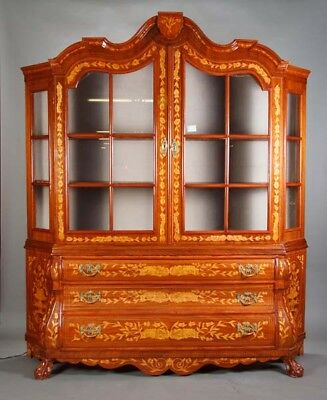 Dutch Glass-Front Cabinet in the Style of the 18. Century