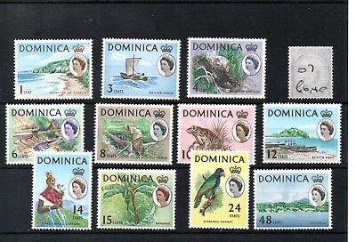 Dominica - (07) - 1963/66 - definitives - selection to 48c - mint - SG Cat £16