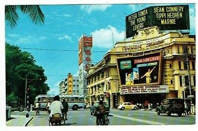 Postcard Capital Cinema Building North Bridge Road Singapore Vintage C.1964