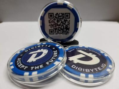 DigiByte Poker Chip - NEW Designs! - Free Shipping