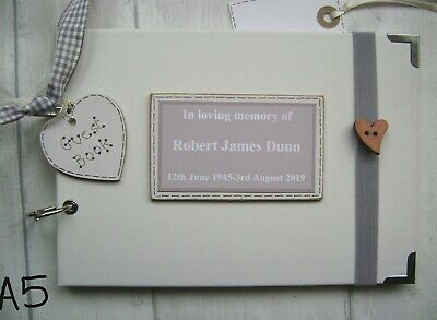 Personalised Guest Book /Memory Book....bereavement..condolence. Funeral