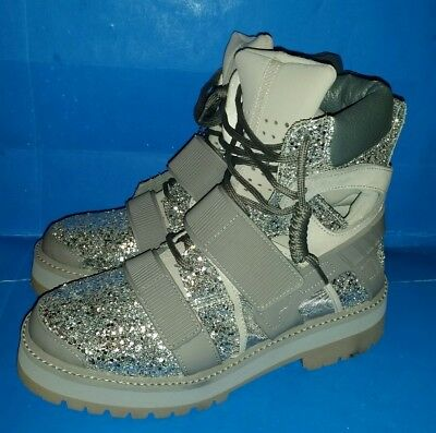 Hba Hood Forfex By Air Grey Glitter Avalanche Strap Boots 40 New