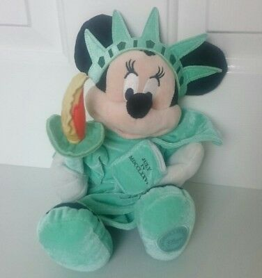 Disney Store Minnie Mouse New York Statue Of Liberty Plush Officially Licensed
