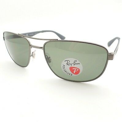 aa7cf9760dd Ray Ban RB 3528 029 9a Matte Gunmetal Green Polarized Sunglasses New  Authentic