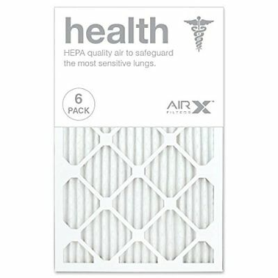 AIRx HEALTH 16x25x1 MERV 13 Pleated Air Filter - Made in the USA - Box of 6