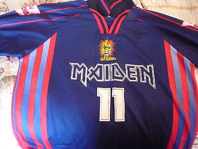 Iron Maiden Soccer/Football jersey/shirt signed by band   Virtual X1 Soundhouse