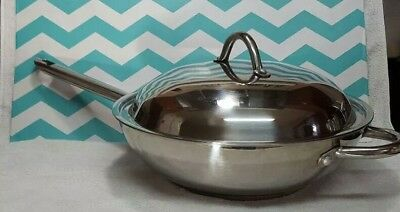 Wolfgang Pucks Cafe Collection 1810 Stainless Steel Wok Stir Fry