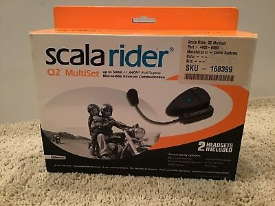 Cardo Scala Rider Q2 Multiset Pro Motorcycle Intercom Bluetooth FM FREE SHIPPING