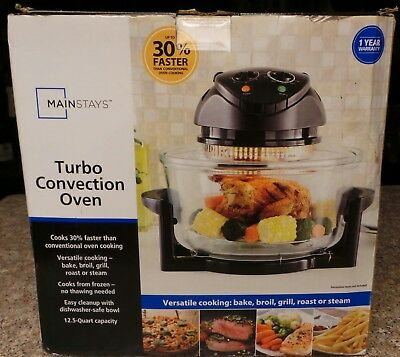 High Quality Mainstays Turbo Convection Oven Model #201519   Bake,broil,steam,roast,