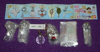 6x Sailor Moon Crystal Die-Cast Charms Complete Set Of all 6 Bandai 2016 Part 4