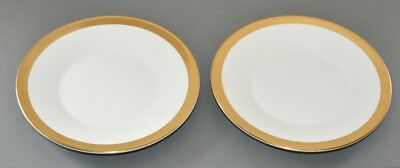 "Wedgwood ~ Jasper Conran Gold Band ~ Pair Of 7"" / 18cm Side Plates ~ 1st New"