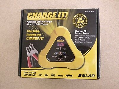 Used Charge It!® Battery Charger 12V 20/10/2A
