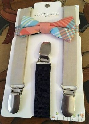 Starting Out Accesories Cute Baby Boy Bow Tie And Suspenders