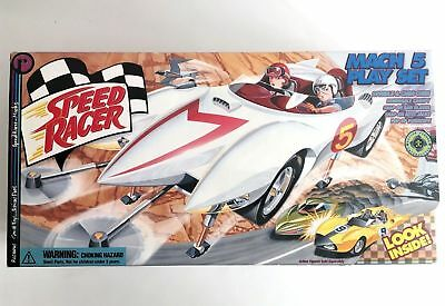 Speed Racer Mach 5 Play Set with Spridle & Chim Chim ReSaurus 1999 - Check Pics
