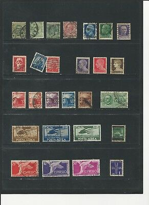 ITALY - COLLECTION OF USED STAMPS (6 SCANS) - #ITA3abcdef