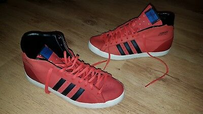 reputable site 96d38 7911a adidas Originals Basket Profi Retro Turnschuhe  High Top Schuhe - Rot  Gr.43,