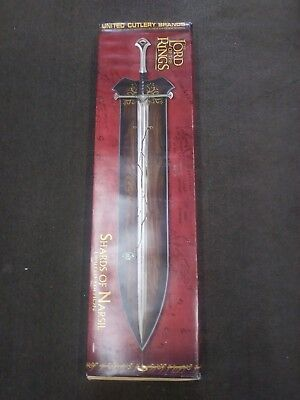Lord Of The Rings - UC1296 Shards of Narsil United Cutlery LOTR Limited RARE