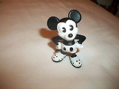Black and White Disney Mickey Mouse PVC Figure 1984