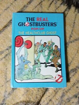 Vintage Ghostbusters Pop Up Book The Healthclub Ghost Hardcover RARE 1987