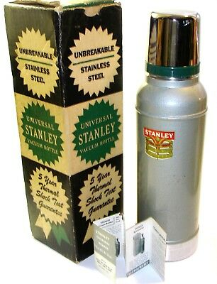 Vintage Stanley Universal Vacuum Thermos Bottle with Cork No 944 in Box NOS 1 qt