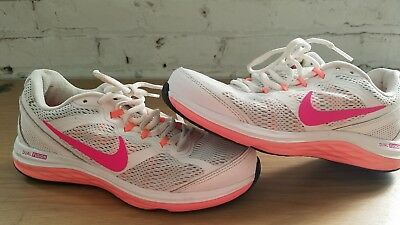 95c4ce50250 Womens Nike Dual Fusion Run 3 Running Shoes 653594-100 White Hyper Pink Size