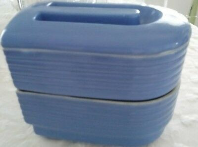 Vintage Westinghouse Refrigerator Covered Dish Hall China Co. Blue
