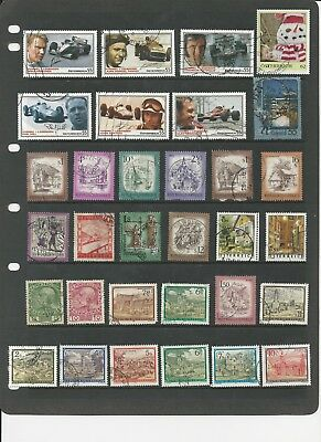 AUSTRIA - COLLECTION OF USED STAMPS (2 SCANS) - #AST4ab