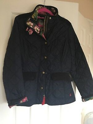 Joules Moredale Ladies Navy Quilted Jacket Size 8 2918