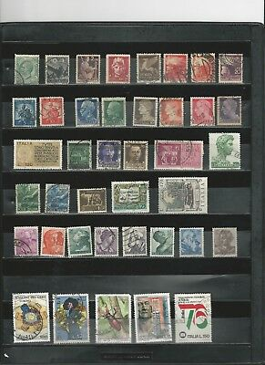 ITALY - LARGE COLLECTION OF USED STAMPS (7 SCANS) - #ITA8abcdefG
