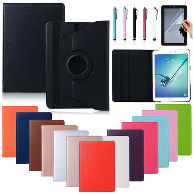 """360 Rotate Leather Stand Case Cover For Samsung Galaxy Tab A/3/4/S2/S3/E 7-10.1"""""""