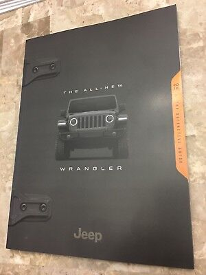 2018 JEEP WRANGLER (ALL-NEW) HUGE 106-page Original Sales Brochure