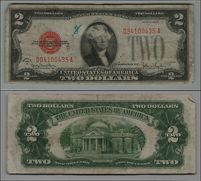 1928G $2 Dollar Bill Old Us Note Legal Tender Paper Money Currency  B-31