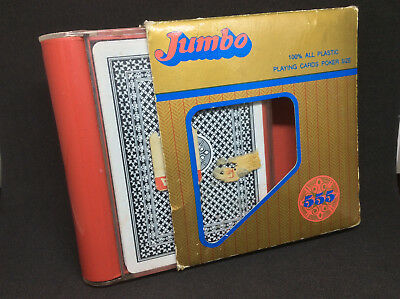 JUMBO plastic PLAYING CARDS vintage Japanese poker pack rare Japan quality