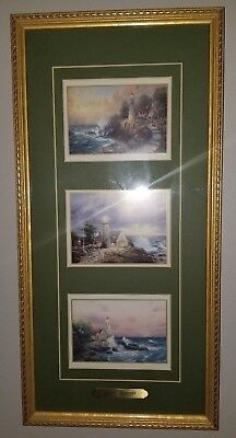 Thomas Kinkade 1998 Seaside Memories Accent Print Framed w/Cert of Auth