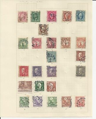 SWEDEN -   ASSORTED MIXTURE OF USED STAMPS - (2 sCANS) #SWE2ab