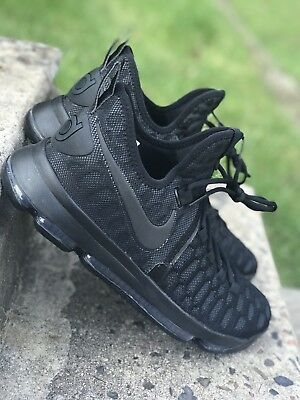 6d0269a1fc53 Nike Zoom KD 9 Blackout Kevin Durant Mens Basketball Black MVP 843392-001  Sz 9.5