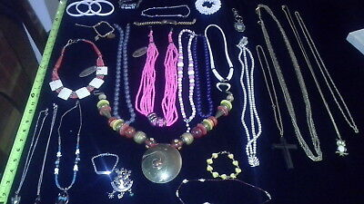 Vintage / Antique Lot Of Costume Jewelry Necklaces