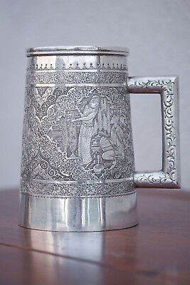 Vartan . A. O. 84 Zolotniki Silver Persian Stein, Mug, or Cup Hand Decorated