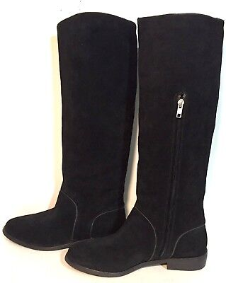 a9255a74f53 NEW IN BOX UGG Australia Black Gracen Riding Boots Suede Leather ...