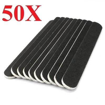 50x Black Pro Double Sided Manicure Nail File Emery Boards  Pack of 50 wholesale